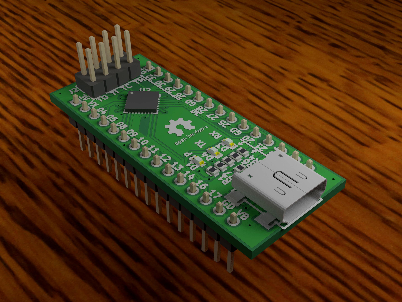 Lattice Machxo2 Based Fpga Development Board Cheap Circuit Figure 1 A Rendered 3d Image Of The Tiny Xo2