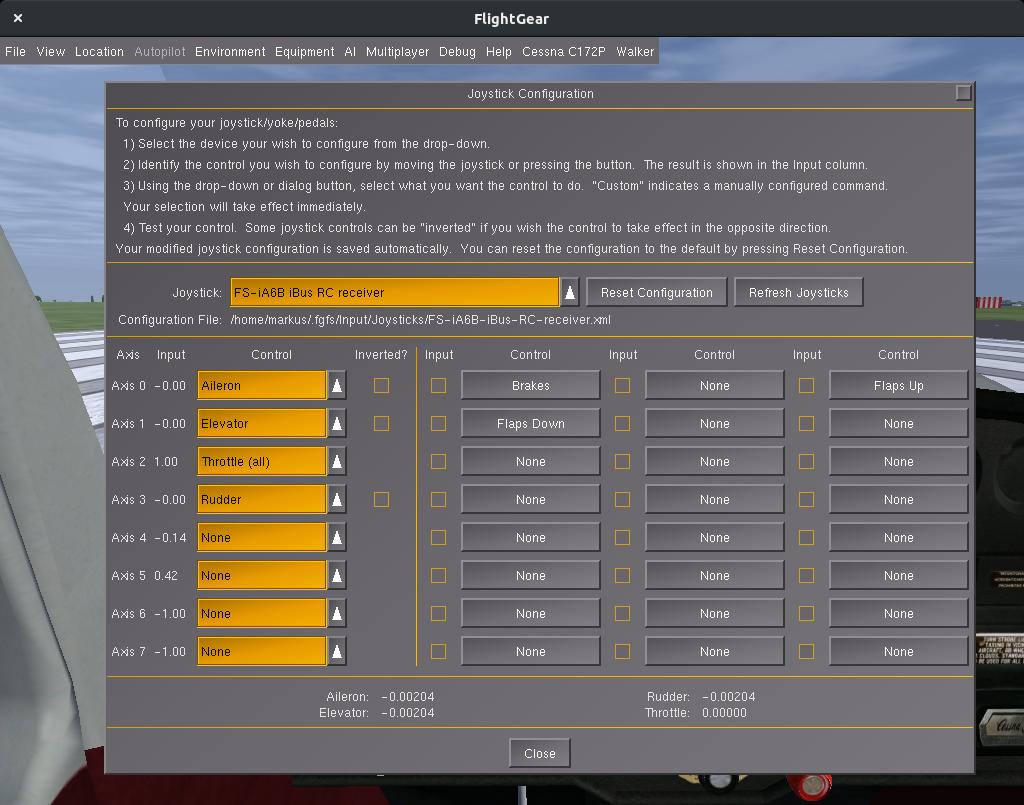 FlySky FS-i6 as PC Joystick - notsyncing net